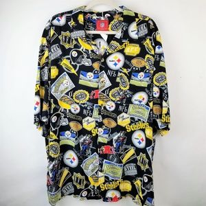 ccd912e15 NFL Pittsburgh Steelers Men s XL Rayon Camp Shirt